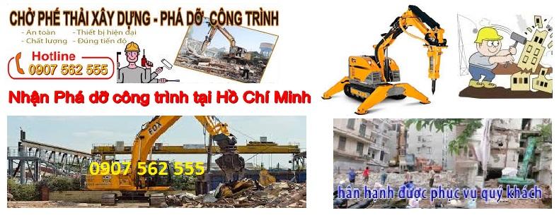 Phá dỡ công trình tại thành phố Hồ Chí Minh