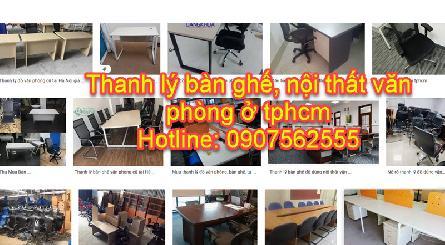 Thu mua nội thất bàn ghế văn phòng cũ tphcm - 0907562555