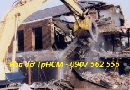 Dịch vụ đập phá, tháo dỡ nhà cũ tại quận 7 TPHCM