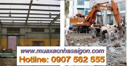 Mua bán xác nhà, đập phá bê tông, tháo dỡ công trình ở tại TpHCM