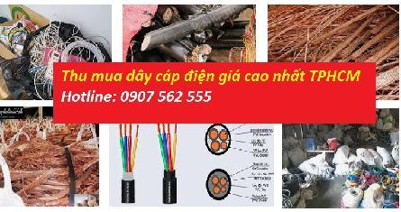 Đơn vị thu mua dây điện cũ, dây cáp điện bằng đồng cũ tại tphcm