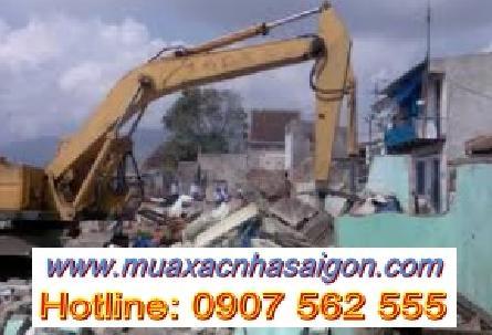 Dịch vụ đập phá, tháo dỡ nhà cũ ở tại quận Bình Thạnh tphcm