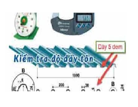 Cách đo độ dày của tôn. Cách kiểm tra độ dày của tôn. Bảng trọng lượng tôn