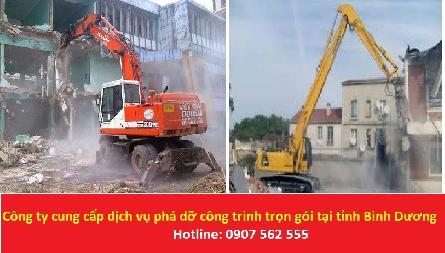 Công ty cung cấp dịch vụ phá dỡ công trình trọn gói tại tỉnh Bình Dương - 0907562555