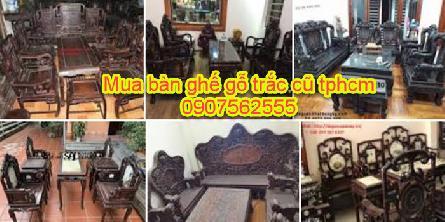 Thu Mua Bàn Ghế Gỗ Trắc Cũ TPHCM - 0907562555