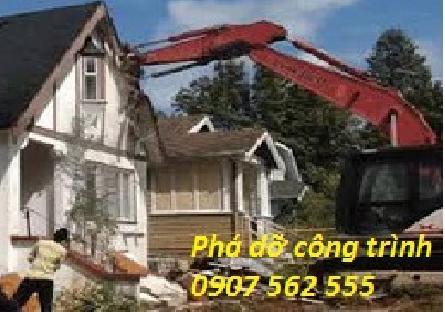 Dịch vụ đập phá, tháo dỡ nhà cũ tại quận 10 TpHCM