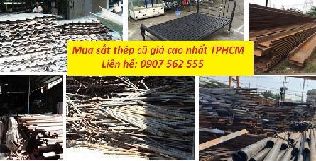 THU MUA SẮT THÉP CŨ Ở TPHCM GIÁ CAO NHẤT- 0907562555