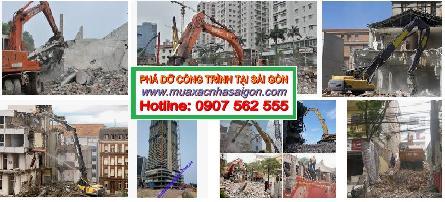 Bảng giá dịch vụ phá dỡ công trình xây dựng, nhà ở cũ tại tphcm