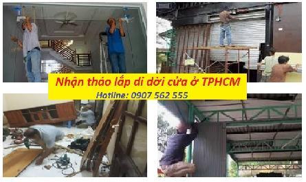 ĐƠN VỊ CUNG CẤP DỊCH VỤ THÁO DỠ DI DỜI CỬA Ở TẠI TPHCM - 0907562555