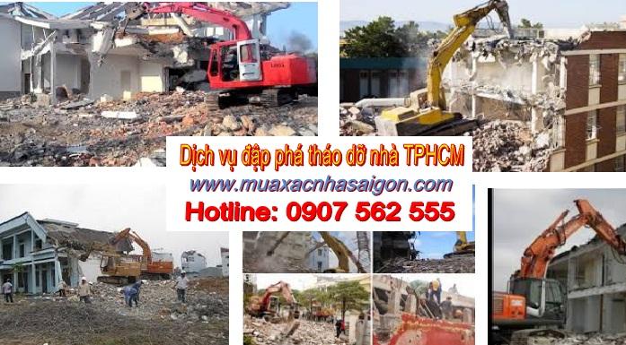Dịch vụ đập phá tháo dỡ nhà tphcm